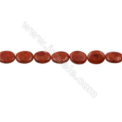 Sponge Coral Beads Strand  Oval  15x20mm  Hole 1mm  Thick 6mm  about 20 beads/strand  15-16""