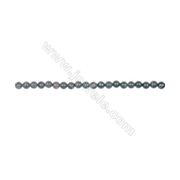 Natural 4mm golden black obsidian gemstone strand beads hole diameter 0.8mm  100 beads/strand 15~16''