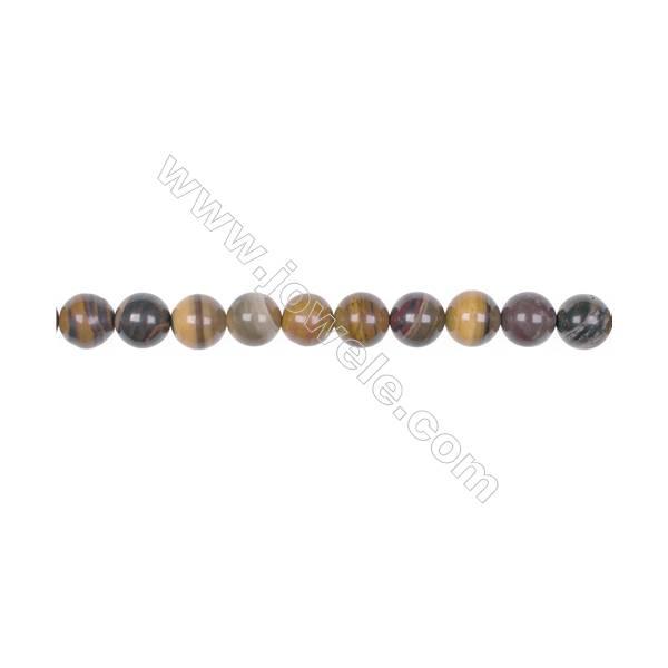 """Natural Iron zebra jasper beads beads strand  Round  Diameter 8mm  Hole 1mm  49 beads/strand 15~16"""""""