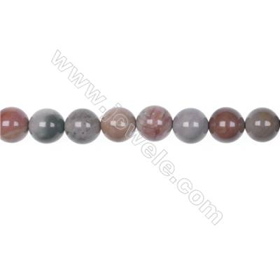"10mm Polychrome jasper bead strand   hole 1mm  39 beads/strand  15~16"""