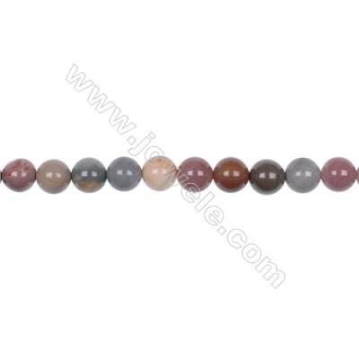 8mm Polychrome jasper semi precious bead strand high quality  hole 1mm  48 beads/strand  15~16''
