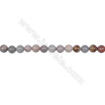"6mm Polychrome jasper bead strand  hole 1mm  64 beads/strand  15~16"""