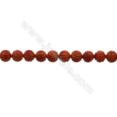 Sponge Coral Beads Strand  Round  12mm  Hole 1mm  about 33 beads/strand  15-16""