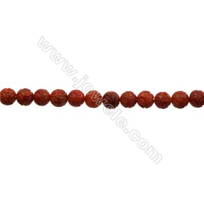 Sponge Coral Beads Strand  Round  10mm  Hole 0.7mm  about 40 beads/strand  15-16""
