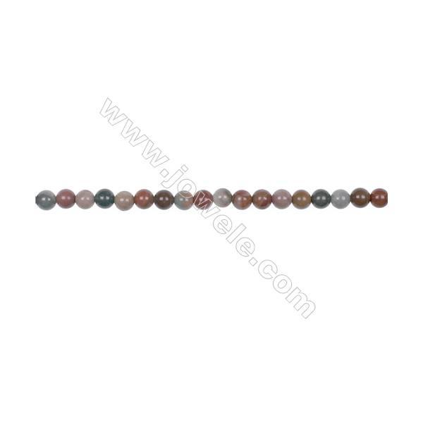 "4mm Polychrome jasper bead strand   hole 0.8mm  about 91beads/strand  15~16"""