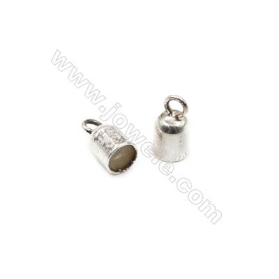 925 Sterling Silver Cord Ends  Size: 5x6mm  inner Diameter 4mm  Hole 2mm  30pcs/pack