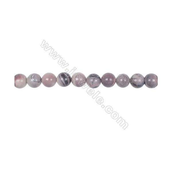 """Natural porcelain jasper loose round beads 8mm   hole 1mm  48 beads/strand  15~16"""""""