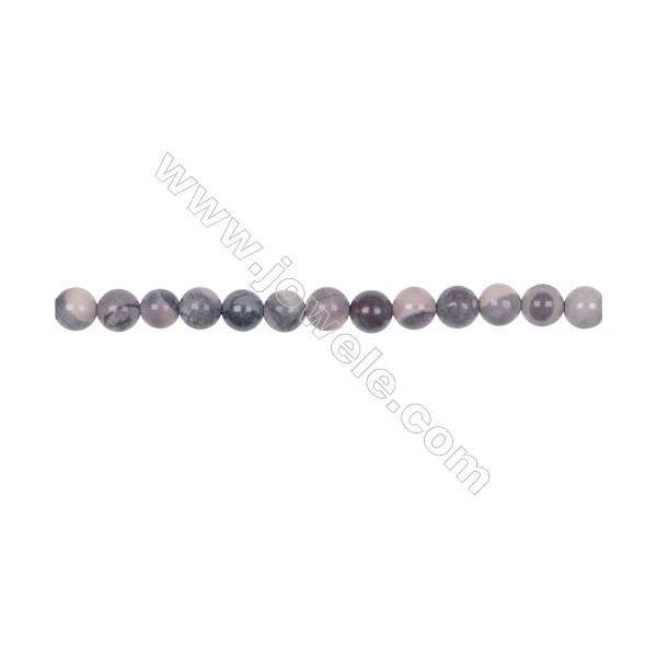 Natural porcelain jasper loose round beads 6mm for jewelry making diy china supplies  hole 1mm  63 beads/strand  15~16''