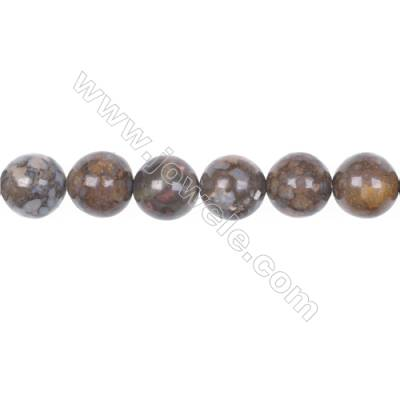 Wholesale 12mm fire lace opal round strand beads  hole 1mm  33 beads/strand  15~16''