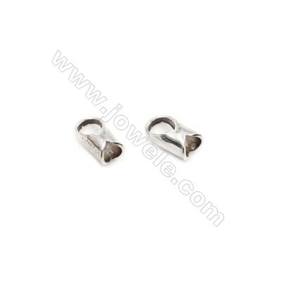 925 Sterling Silver Cord Ends  Size: 3x6mm  inner Diameter 2.5mm  Hole 2.5mm  70pcs/pack
