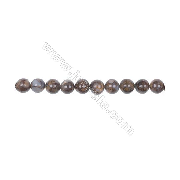 Wholesale 8mm fire lace opal round strand beads  hole 1mm  52 beads/strand  15~16''