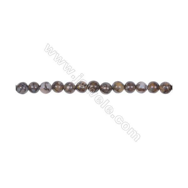 Wholesale 6mm fire lace opal round strand beads  hole 1mm  66 beads/strand  15~16''
