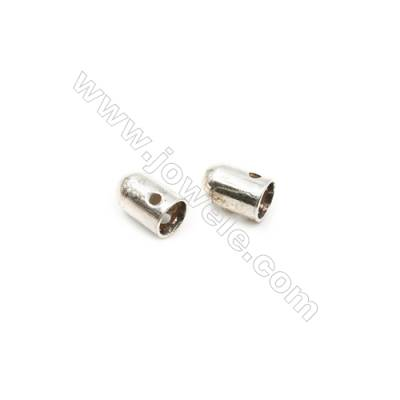 925 Sterling Silver Cord Ends  Size: 4x6mm  inner Diameter 3mm  Hole 1mm  50pcs/pack