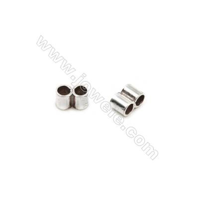 925 Sterling Silver Tube  Size: 3x5mm  Hole 2mm  60pcs/pack