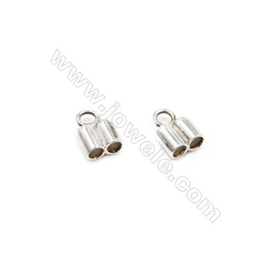 925 Sterling Silver Cord Ends  Size: 5x6mm  inner Diameter 2mm  Hole 2mm  30pcs/pack