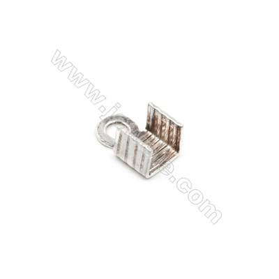 925 Sterling Silver Cord Ends  Size: 5x6mm  Hole 2.5mm  30pcs/pack