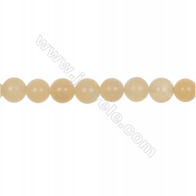 Natural 10mm yellow calcite stone orange calcite loose beads  hole 1mm  41 beads/strand 15~16""