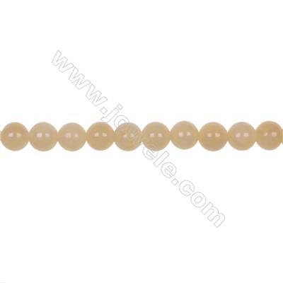 "Natural 8mm yellow calcite stone orange calcite loose beads  hole 1mm  50 beads/strand 15~16"""