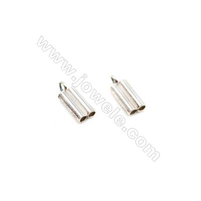 925 Sterling Silver Cord Ends  Size: 4x7mm  inner Diameter 1.5mm  Hole 1.5mm  30pcs/pack