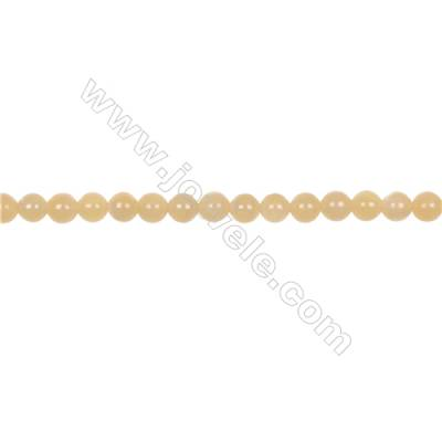 Natural 6mm yellow calcite stone orange calcite loose beadsfor jewelry making  hole 1mm 70 beads/strand 15~16''
