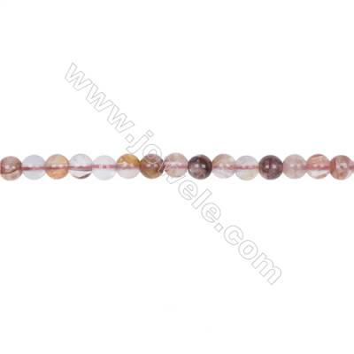 Wholesale 6mm pink gemstones blood rose quartz round loose beads for jewelry making  hole 1mm  70 beads/strand  15~16''