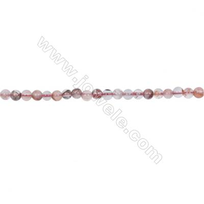 Wholesale 4mm pink gemstones blood rose quartz round loose beads for jewelry making  hole 0.8mm  97 beads/strand  15~16''
