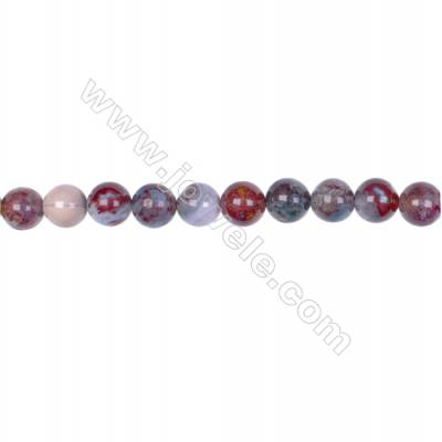 Wholesale natural stone 8mm red lighting agate gemstone strand beads for jewelry making hole 1mm  49 beads/strand 15~16''
