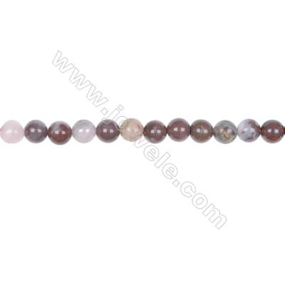 Wholesale natural stone 6mm red lighting agate gemstone strand beads for jewelry making hole 1mm  63 beads/strand 15~16''