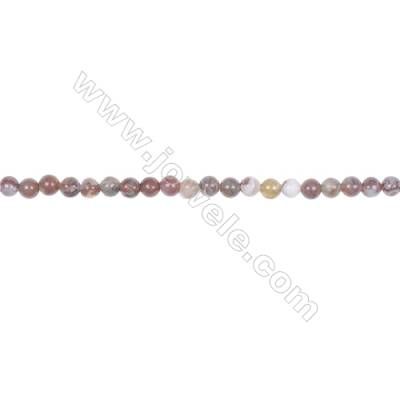 Wholesale natural stone 4mm red lighting agate gemstone strand beads for jewelry making hole 0.8mm  98 beads/strand 15~16''