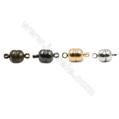 Magnetic Brass Clasp  Plated  Size 6x5mm  Hole 1.5mm  100pcs/pack
