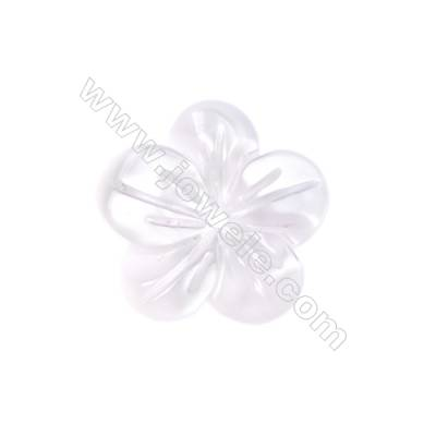 Leafy flower shell white mother-of-pearl, 12mm, hole 0.9mm, 30pcs/pack