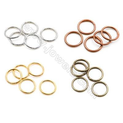 Brass Closed Ring  Plated  Diameter 10mm  Wire 1mm  1 000pcs/pack  (Gold  Rhodium  Silver  Copper  Dark Copper)