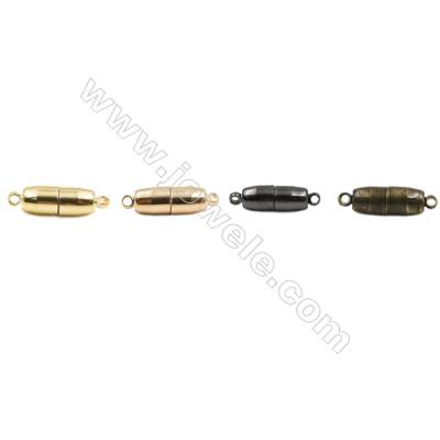 Magnetic Brass Clasp  Plated  Size 12x5mm  Hole 1.5mm  50pcs/pack