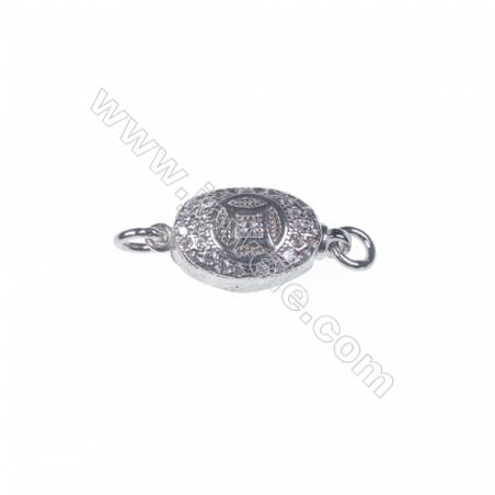 Jewelry findjngs DIY 925 sterling silver box tab clasp platinum plated making necklace bracelet Clasps-83867 x 1pc 5x7x15mm