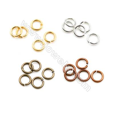 Brass Closed Ring  Plated  Diameter 5mm  Wire 0.8mm  5 000pcs/pack  (Gold  Rhodium  Silver  Copper  Dark Copper)