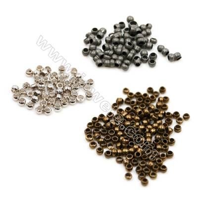Brass Position Beads, (Silver, Gun black, Copper) Plated, Size 1x1.4mm, Hole 0.8mm, 20 000pcs/pack