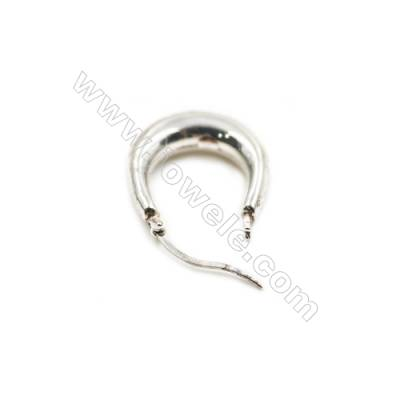 925 Sterling Silver Earring Hoop  Size 21x24mm  Pin 0.6mm  6pcs/pack