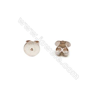 925 Sterling Silver Earnuts  Size 5x7mm  hole diameter 0.7mm  30pcs/pack