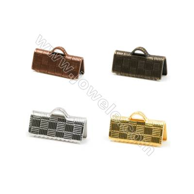 Brass Ribbon Ends  Plated  Size 5.5x13mm  Hole 1x1.5mm  600pcs/pack( Gold  Rhodium  Silver Copper  Dark Copper)