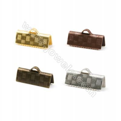 Brass Ribbon Ends  Plated  Size 5.5x15mm  Hole 1x2.5mm  500pcs/pack( Gold  Rhodium  Silver Copper  Dark Copper)