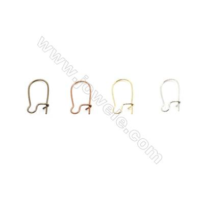 Brass Earring Hook  Plated  Size 9x17.7mm  Pin 0.7mm  200pcs/pack