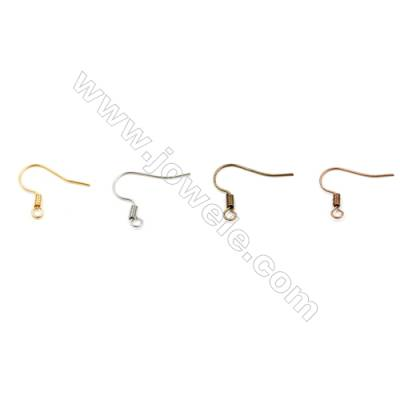 Brass Earring Hook  Plated  Size 8.5x18x5mm  Pin 0.62mm  Hole 3.4mm  200pcs/pack