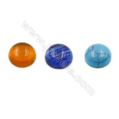 Glass Cabochon, Size 13mm, thickness 5mm, 60pcs/pack