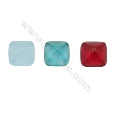 Glass Cabochon, square, Size 14.5x14.5mm, thickness 7mm, 60 pcs/pack