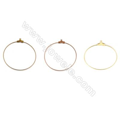 Brass ear hook  Size 38x40mm  Pin 0.7mm  Hole 1.0mm  400pcs/pack  Color (golden purple bronze bronze)