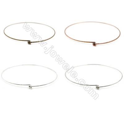 Brass chain pendant rings  Diameter 137mm  Pin 2mm  Ball 5.5mm 20pcs/pack  Color (silvery white golden bronze purple bronze)