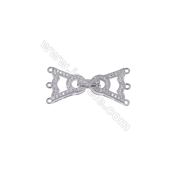 925 silver platinum plated triangle shape spacer connector clasp for necklace bracelet making-83857 x 1pc 14x14mm