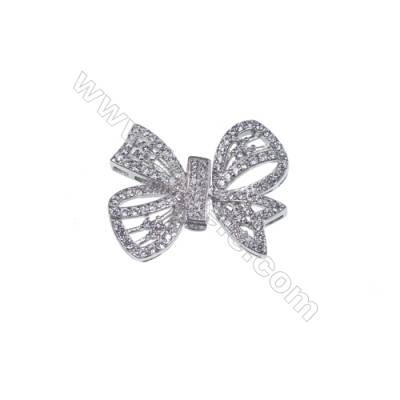 925 silver platinum plated butterfly spacer connector clasp for necklace bracelet making-841087 x 1pc 13x19mm