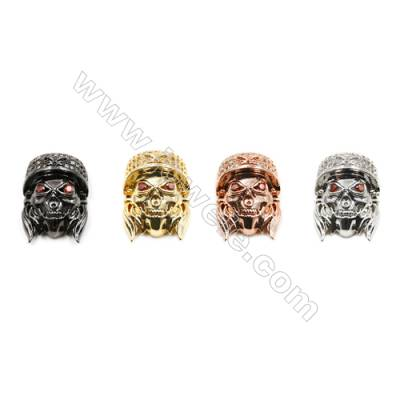 14x18mm  Brass charm  (Gold  Rhodium  Rose Gold  Gun black) Plated  CZ Micropave Hole 1.5mm 15pcs/pack