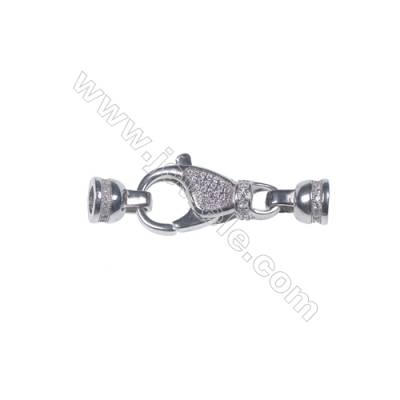 Jewelry findings genuine 925 silver lobster claw clasp fittings connector components -841133 13x23mm x 1pc